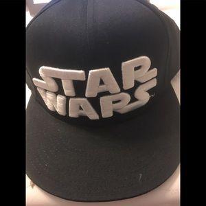 Star Wars Embossed Logo Men's SnapBack Cap New